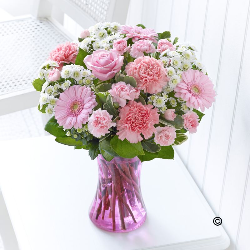 New Baby Vase Pink Gallagher Flowers
