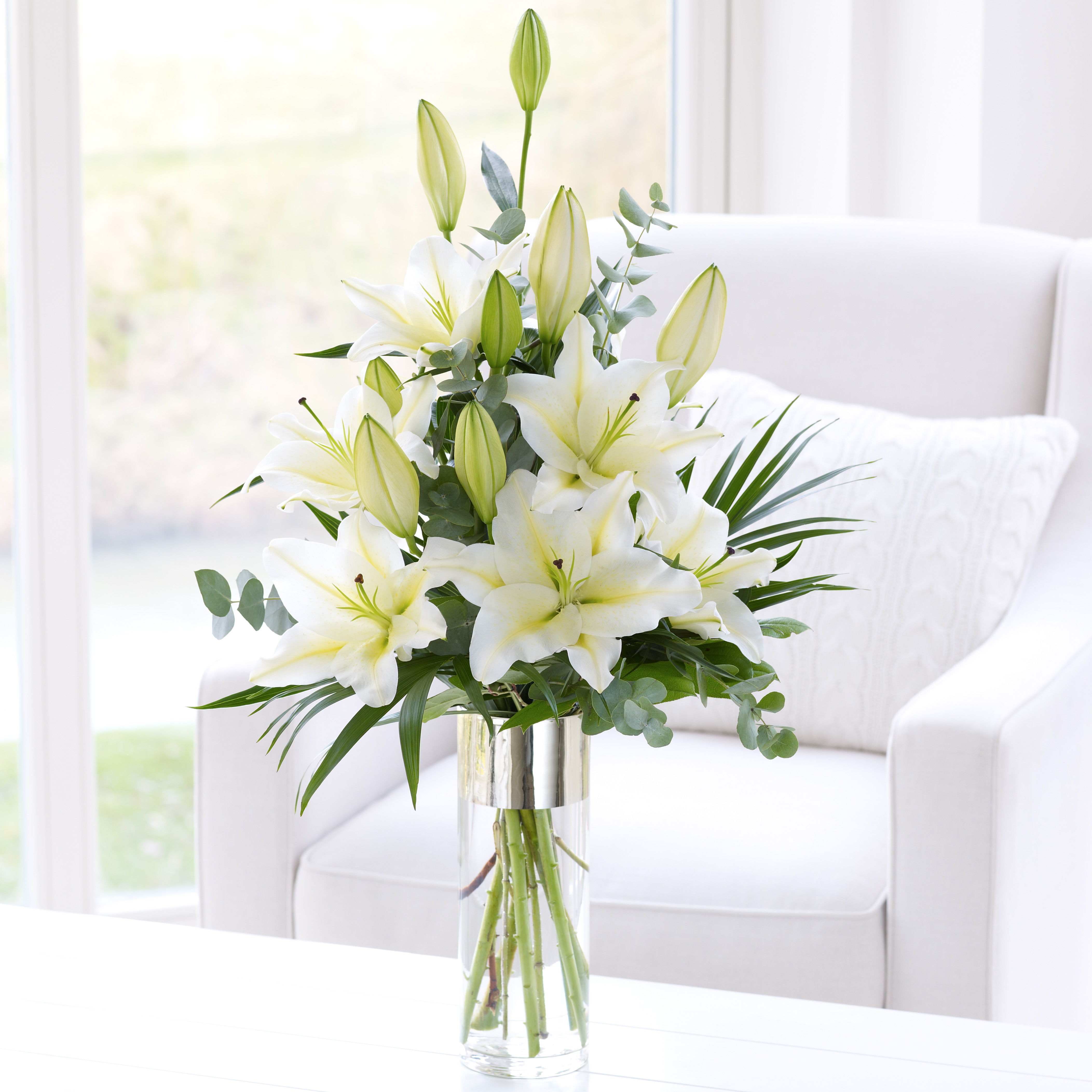 White scented lily vase gallagher flowers white scented lily vase reviewsmspy
