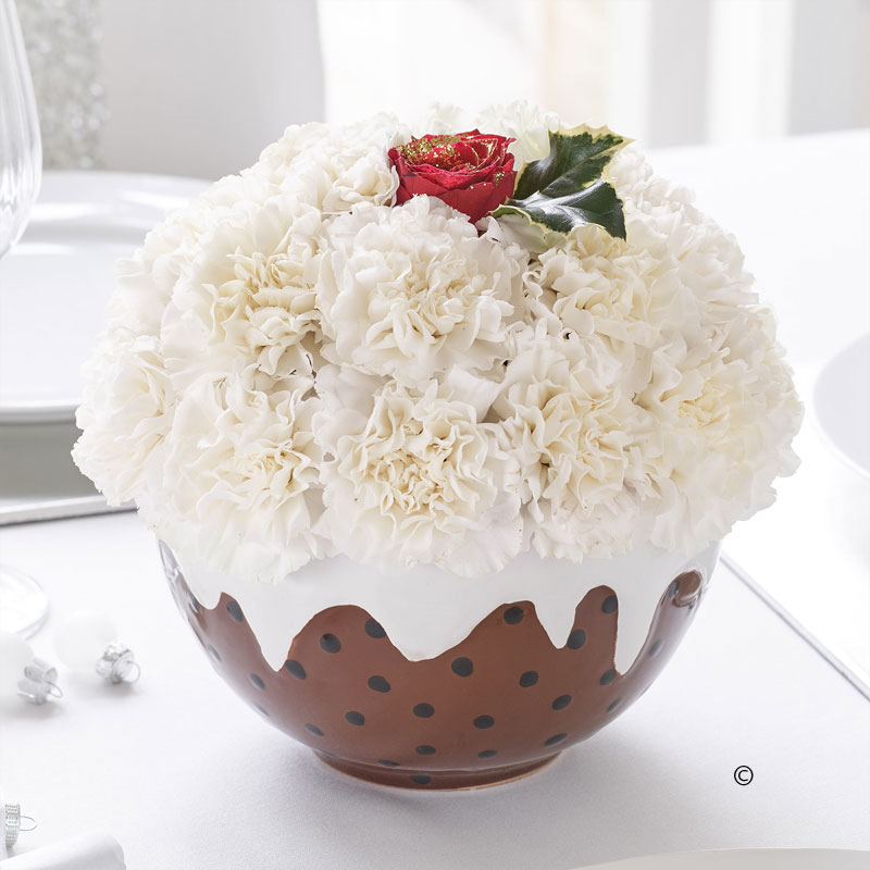 Floral Fun Christmas Pudding - Gallagher Flowers
