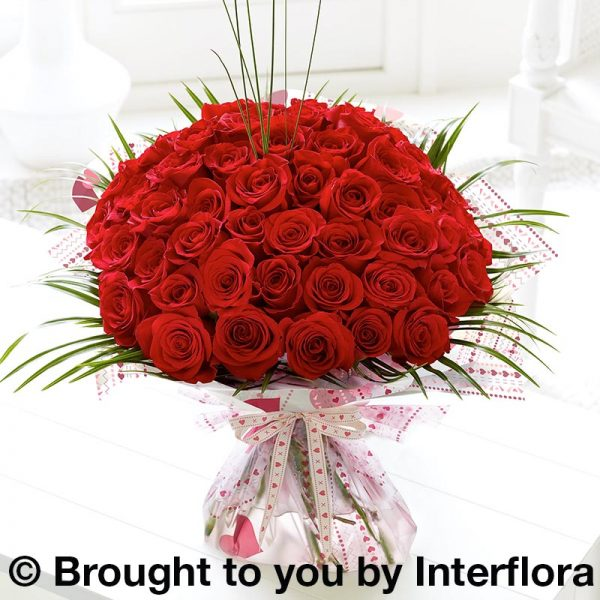 50 Red Rose Hand-tied.