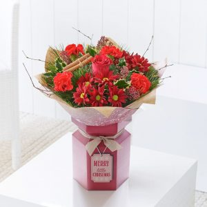 Seasons Greeting Gift Box Arrangement