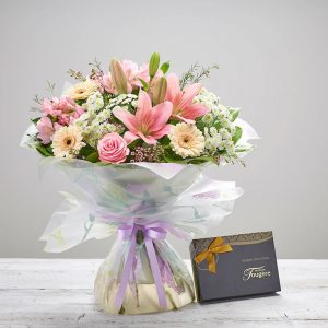 Mother's Day - Cherished Hand-tied & Chocolates
