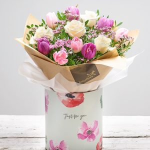 Pretty Rose & Tulip Gift Box