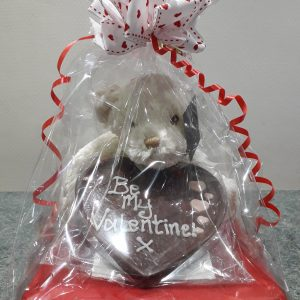 Teddy with Valentines Chocolate Heart